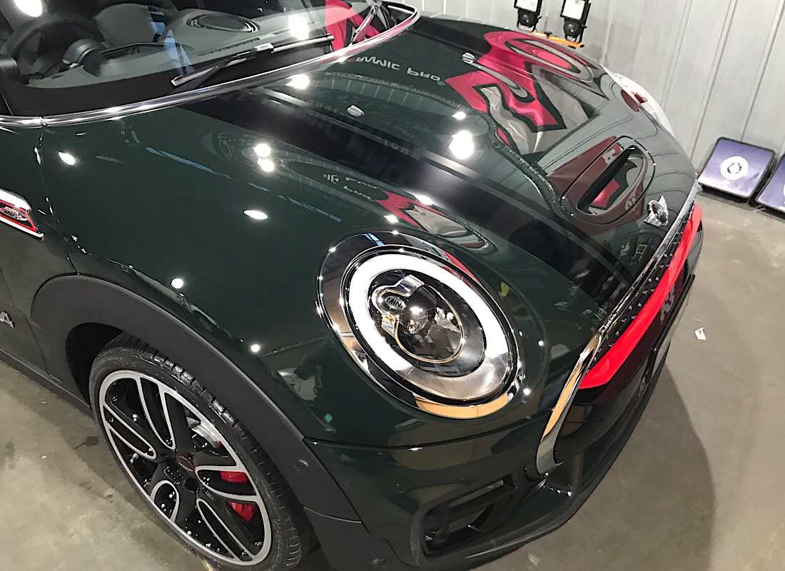 Mini copper club man single stage gloss enhancement and application of ceramic pro 9H paint protection