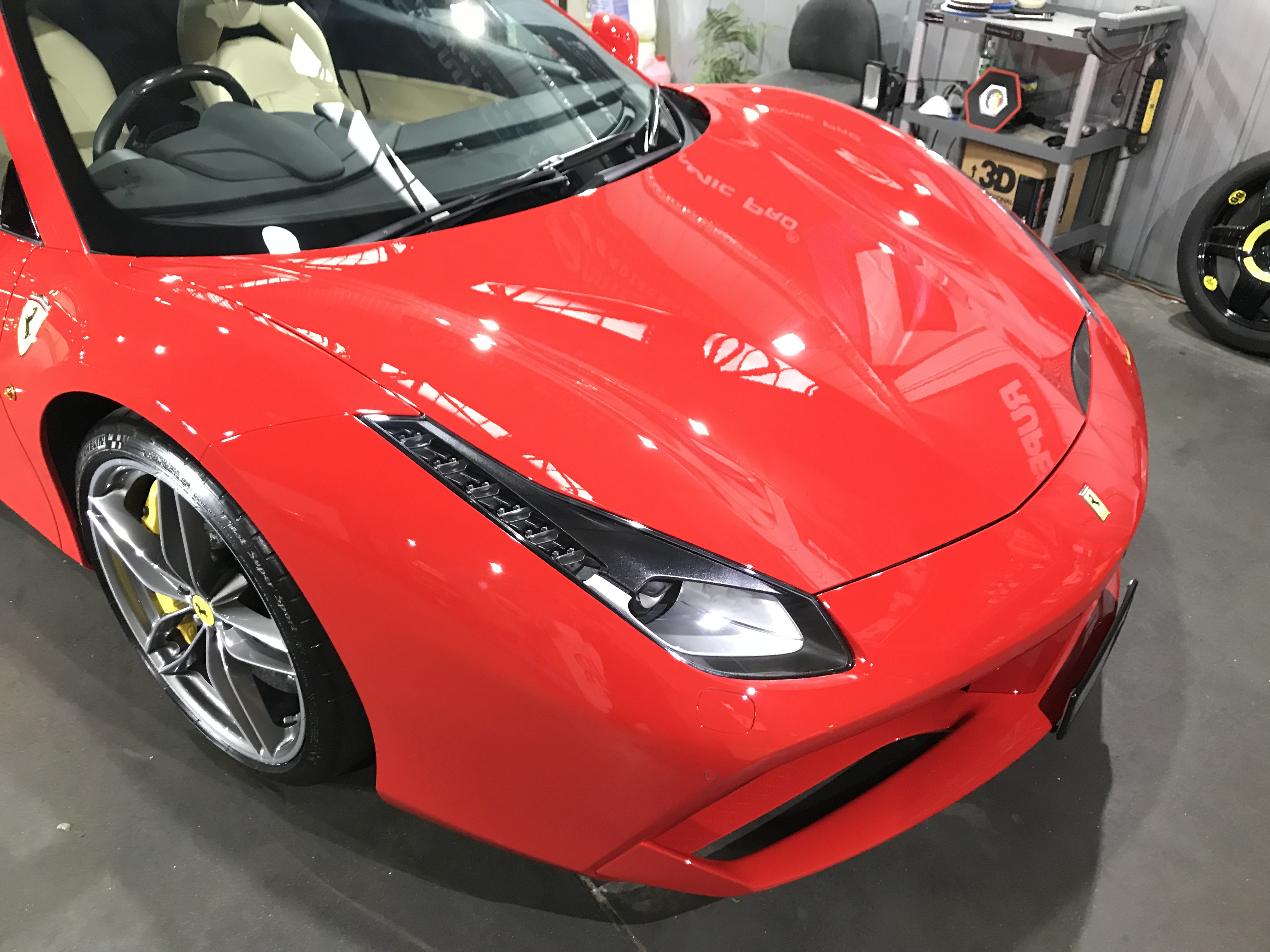 FERRARI 488 SPIDER 2 STAGE PAINT CORRECTION AND APPLICATION OF CERAMIC PRO 9H PAINT PROTECTION